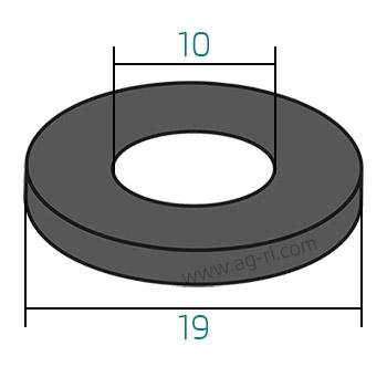 Размеры прокладки колпачка форсунки Arag
