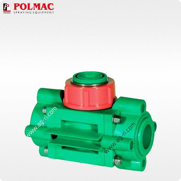 Расходомер Polmac 00375908 1″ зелёный красная гайка