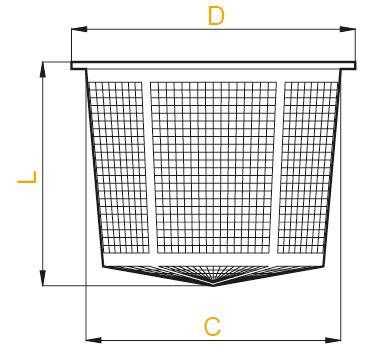 Размеры фильтра горловины бочки