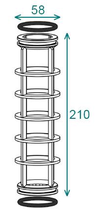 Размеры фильтроэлемента 58x210 фильтра 326-328