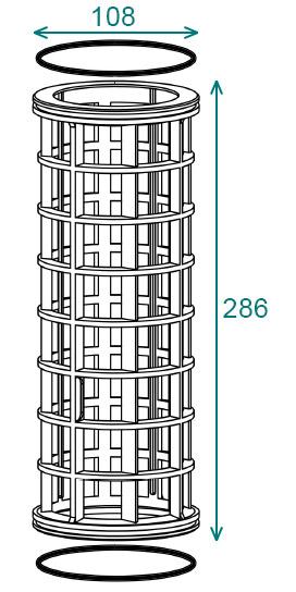 Размеры 107×286 фильтра Arag 317
