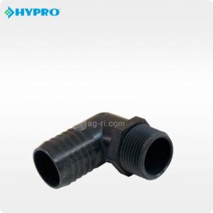 Изогнутый штуцер Hypro наружная резьба полипропилен