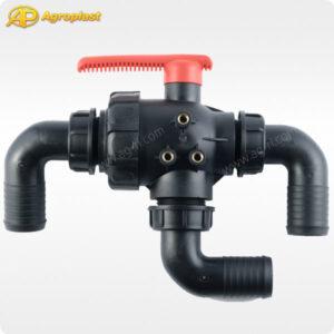 Кран 3-ходовой шаровый Agroplast Proline 2 дюйма