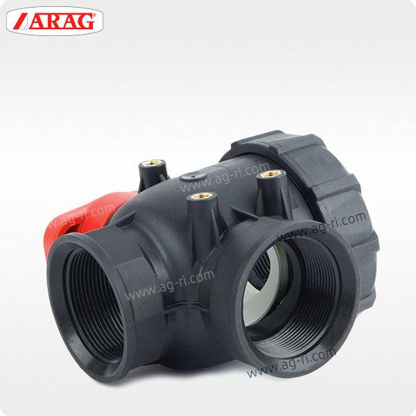 Кран 3-ходовой Arag 455 (внутренняя резьба) пластик