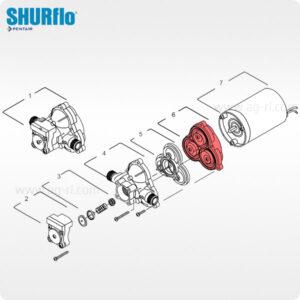 Мембраны насоса Shurflo 2088 и 2087