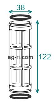Размеры фильтроэлемента 58x210 фильтра 322-4 324-4