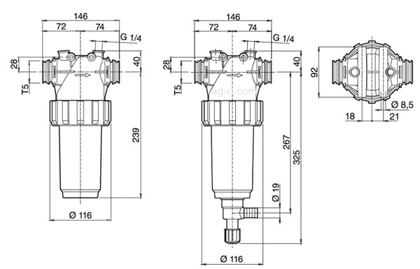 размеры фильтров arag 326 т5