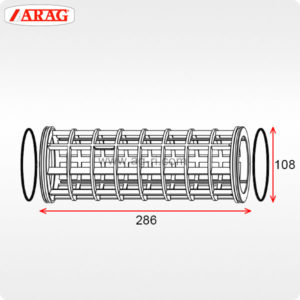 Размеры фильтроэлемента 107×286 фильтра Arag 317