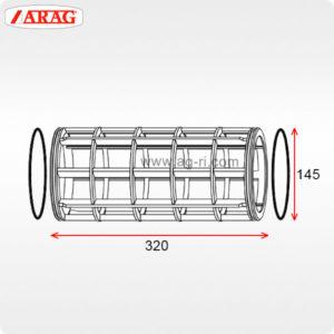 Размеры фильтроэлемента 145×320 фильтра Arag 319
