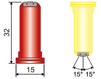 Размеры распылителя TFA