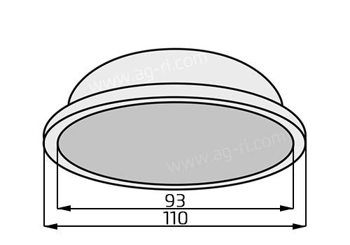 Размеры диафрагмы воздушной камеры насоса AR 550190