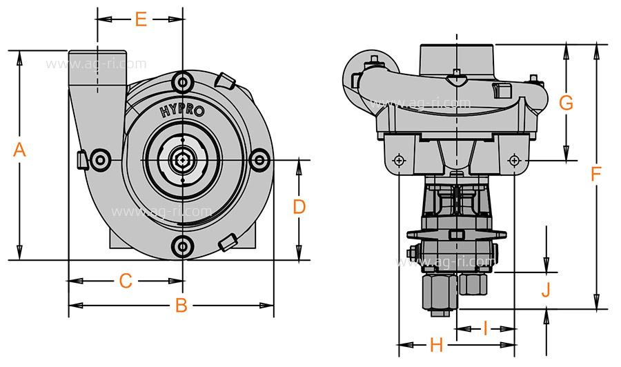 Размеры Hypro 9306 HM1C