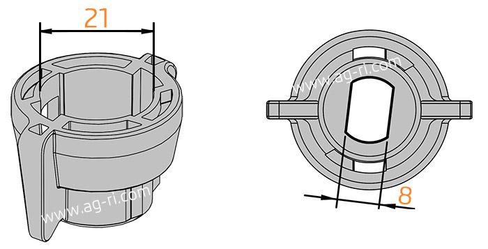 Размеры колпачка стандарт Arag