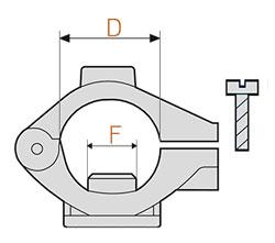 Размеры крепления на трубу форсунки Teejet QJ360C