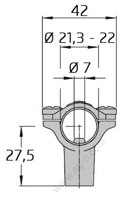 Размеры кронштейна Braglia 267.612.177