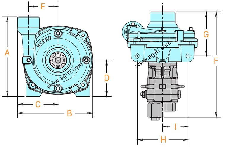 Размеры насоса Hypro 9303
