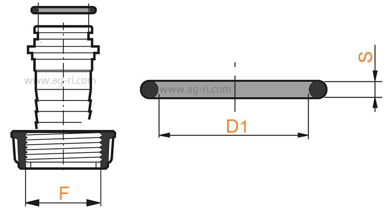 Размеры прокладка штуцеров под барашковую гайку