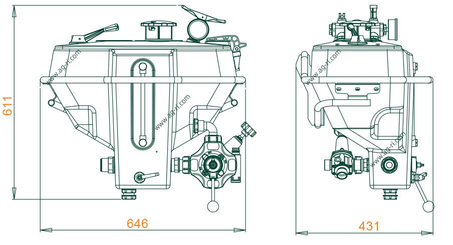 Размеры миксера Polmac Compact 35