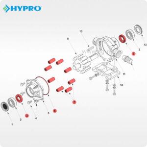 Ремкомплект hypro 7560 роликового