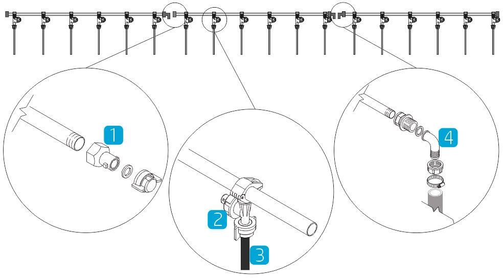 Секции подачи на рабочее колесо