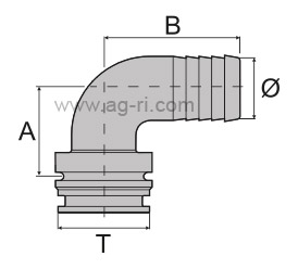 Схема изогнутый штуцер папа вилка