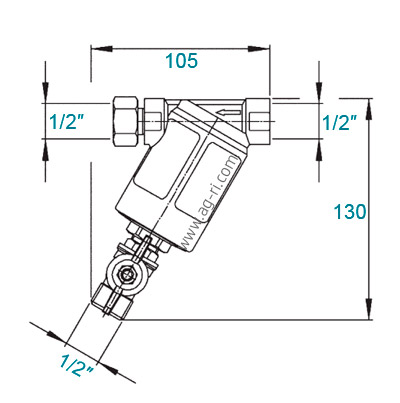 Размеры Фильтр Braglia M146 латунный