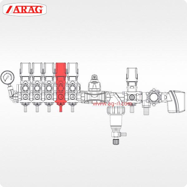 Схема Секционный электроклапан ARAG 8630011 компьютера