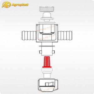 Схема запчастей форсунки 07 Agroplast