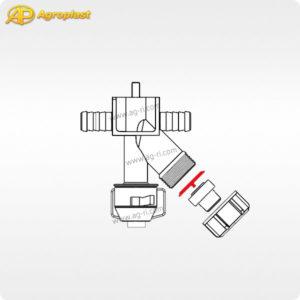 Схема запчастей форсунки 087 Агропласт мембрана