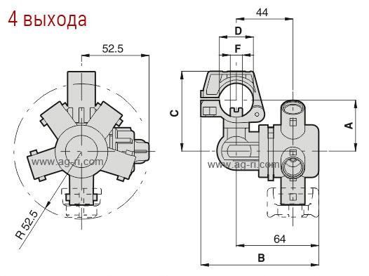 Таблица размеров корпуса форсунки 4 распылителя