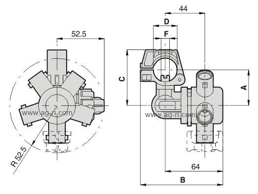 Таблица размеров форсунки на 5 распылителей Arag