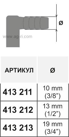 Таблица концевого корпуса форсунки