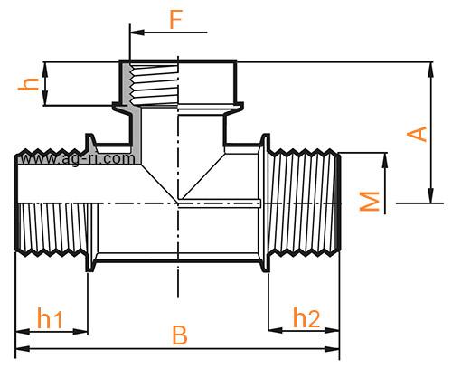 Таблица Тройник Arag (наруж наруж внутр резьба)