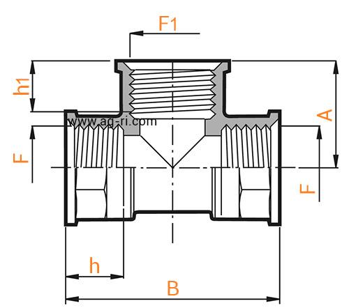 Таблица тройник Arag (внутренняя резьба)