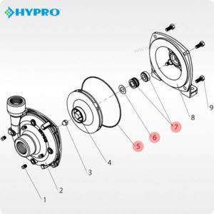 Схема набора прокладок Hypro 3430-0332
