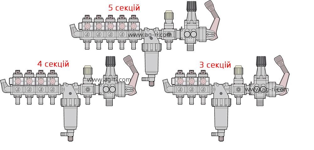варианты регуляторов Arag 464