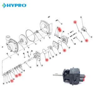 Запчасти гидромотора hypro