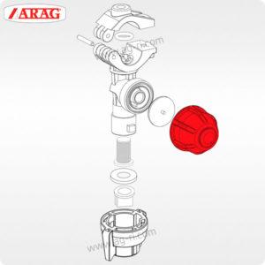 Запчасти отсечной клапан форсунки Arag красный