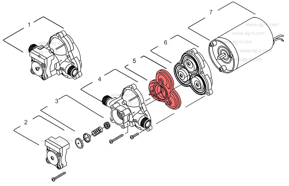 Запчасти shurflo 2088 клапаны